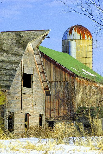 old barn beauty with silo