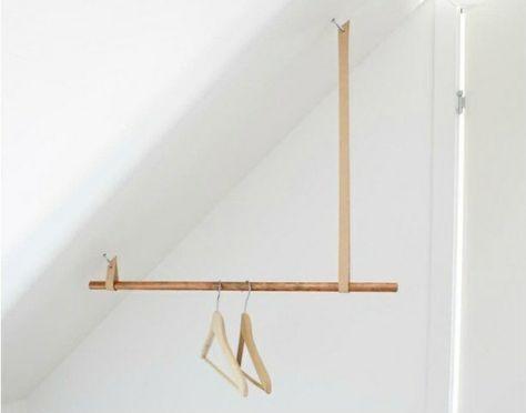 Kleiderstander Begehbarer Kleiderschrank Dachschrage Selber Bauen