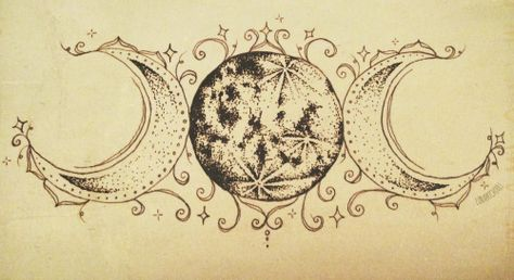 """natvrist: """" luna-patchouli: """" The symbol that transformed my relationship with myself ☆ ~ (. a commissioned tattoo design!) """" nothing but nature """" Heidnisches Tattoo, Pagan Tattoo, Tattoo Mond, Witch Tattoo, Wiccan Tattoos, Sternum Tattoo, Celtic Tattoos, Future Tattoos, New Tattoos"""