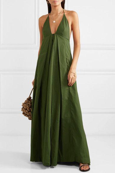 Maxi Green Boho Dress