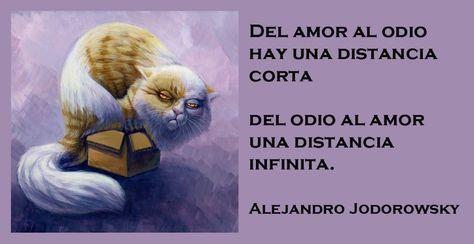 """""""De nada sirve responder una agresión con otra: el odio es un pedido de amor."""" -Alejandro Jodorowsky"""