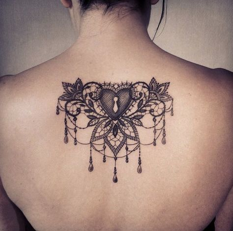 heart tattoos lace Victorian