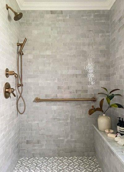 The Best Tile For Bathroom Floors According To Designers In 2020 Best Bathroom Tiles Bathroom Decor Tile Bathroom