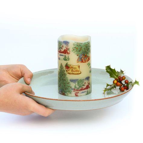 Photo of Seasonal Candle – Vintage Style Decorative LED Candle