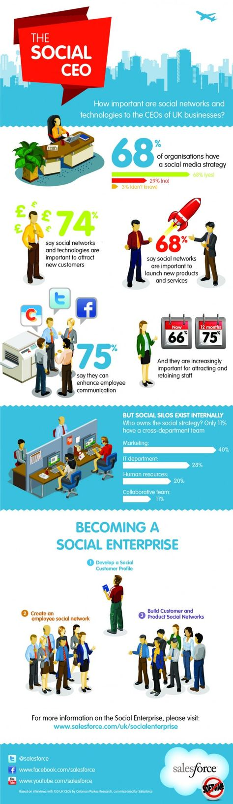 Infographics The Social CEO