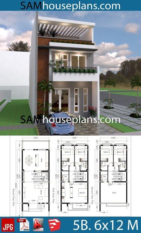 Narrow Modern House Plans Design 20 Ideas Small Modern House Plans Narrow House Plans Narrow Lot House Plans