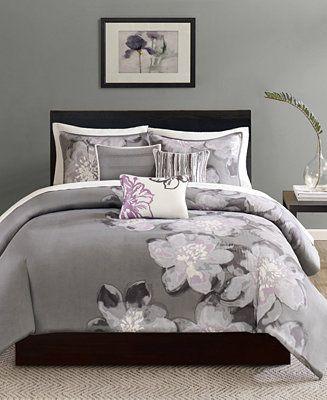 Madison Park Serena 6 Pc King Duvet Cover Set Reviews Duvet Covers Sets Bed Bath Macy S King Comforter Sets Comforter Sets King Duvet Cover Sets