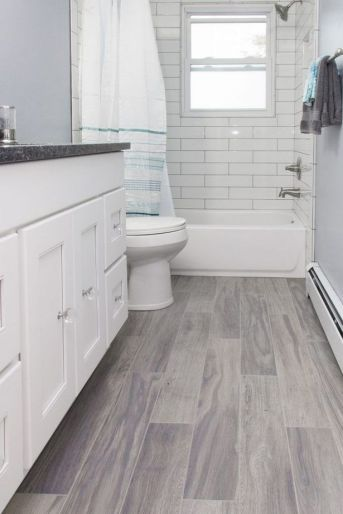 46 Wood Tile Bathroom Floor Master Bath 71 With Images Grey