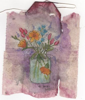 Dkjones Fledgling Artist My Teabag Art For Today Is A Vase Of