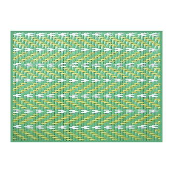 Braiding Print Vinyl Placemat Green Yellow Placemats Table Accessories Vinyl