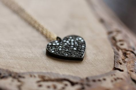 Diamond Solid Heart Necklace A Symbol Of By 2sistershandcrafted