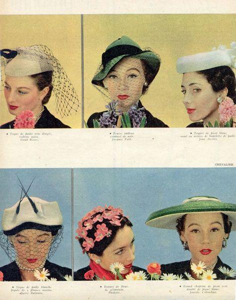 classique chic offres exclusives vente de sortie Hats. 1950s | hats | Chapeau, Capucine et Mode
