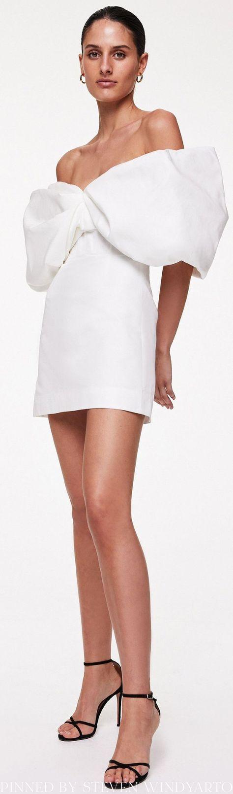 Rachel Gilbert Spring 2022 Lookbook - Xavier Cotton-Silk Mini Dress #spring2022 #ss22 #womenswear #rachelgilbert