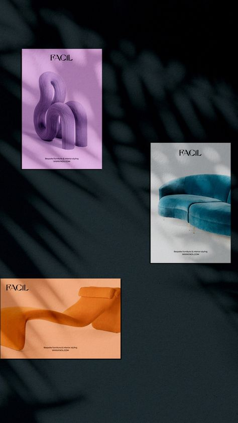 Facil furniture brand identity design by Elisabeth Kiviorg
