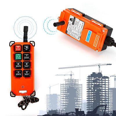 Wireless Hoist Crane Radio Transmitter/&Receiver Industrial Remote Control 24V US