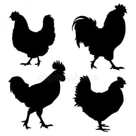 Chicken Silhouette Stock Vector Sponsored Silhouette Chicken Vector Stock Ad Chicken Vector Silhouette Stock Illustration