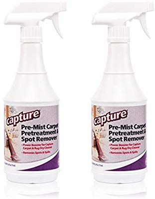 Capture Carpet Cleaner Soil Release Pre Mist 24 Ounce 2 Pack Loosens The Toughest Dirt Odors Grease Smell And Allergen Carpet Cleaners Tough Stain Mists