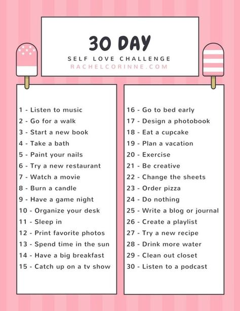 30 Day Self Love Challenge - #Challenge #corenne #day #Love