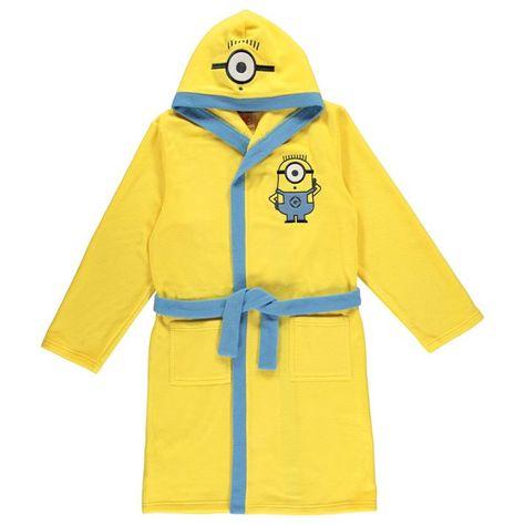 1d49bc3b31680 Kids Yellow Despicable Me Minion Hooded Fleece Bath Robe