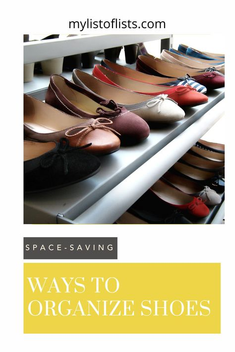 Never waste time looking for that one shoe again. Keep your shoes organized and easy to find with these organization ideas.