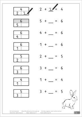 Analogie Zahlzerlegung Addition Zahlenraum 6 6