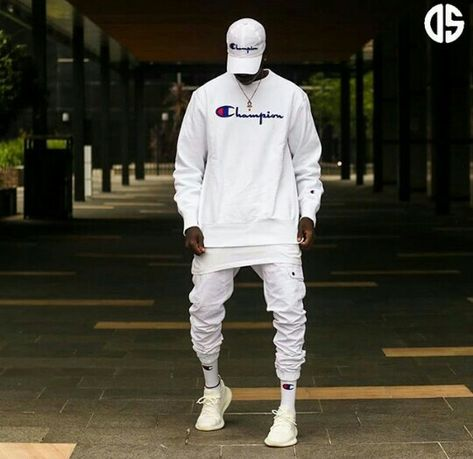 Follow me for more pins of street wear style   Champion t-shirt, socks, cap/ Adidas Yeezy Boost 350