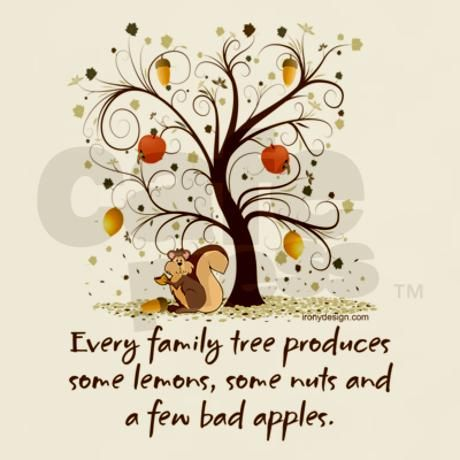 Family Tree Humor. Perfect for fall family gatherings!