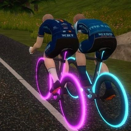 The Kiss Racing Team Kits On Zwift Cycling Design Instagram