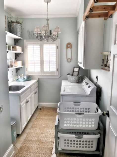 Genius Laundry Room Storage Organization Ideas 27 Blue Laundry