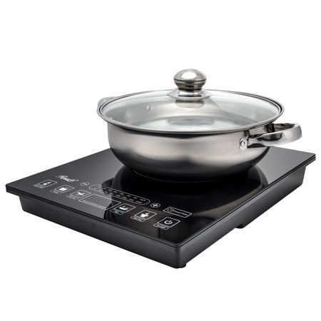 Rosewill Portable Induction Cooker Electric Hot Plate Includes 3 5qt Stainless Steel Pot 1800 Watts Rhai 15001 Walmart Com Electric Hot Plate Induction Cooktop Cooktop