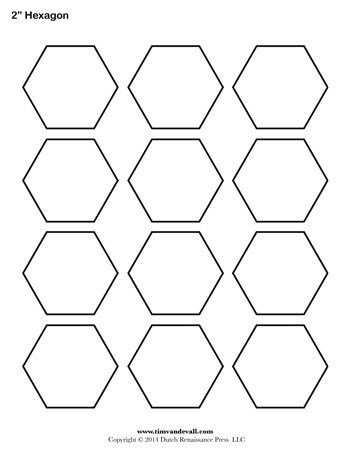 Hexagon Template 2 Inch Tim S Printables Hexagon Quilt Pattern Hexagon Patchwork Hexagon Quilt
