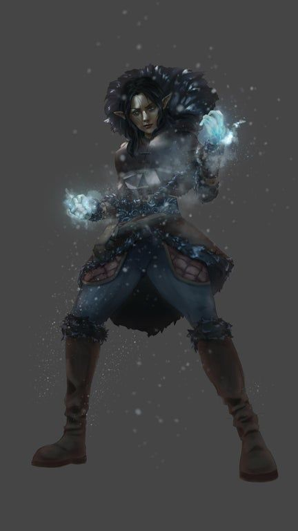 [OC][ART] Avalanche monk - conmissioned piece : characterdrawing