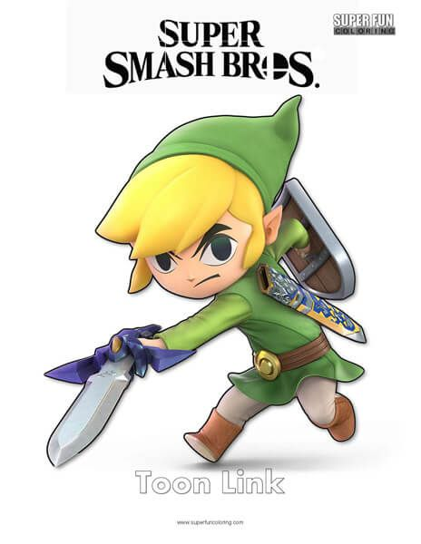 Super Smash Brothers Coloring Pages Link Ilustraciones