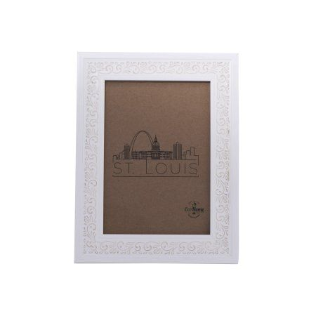 8x10 Picture Frame Ornate White - Mount the Photo on the Wall or ...
