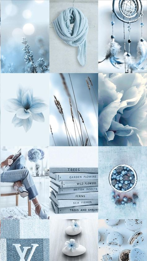 Spice up your room with this blue aesthetic photo wall collage!