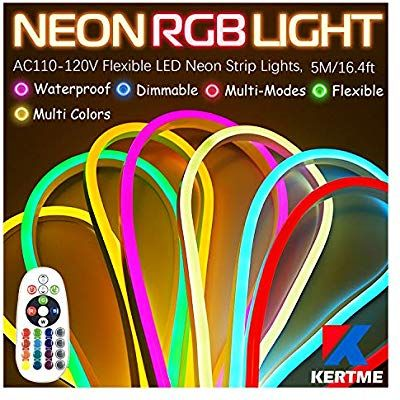 Amazon Com Kertme Neon Led Type Ac 110 120v Led Neon Light Strip Flexible Waterproof Dimmable Multi Colors Multi Mod Led Rope Lights Led Rope Strip Lighting