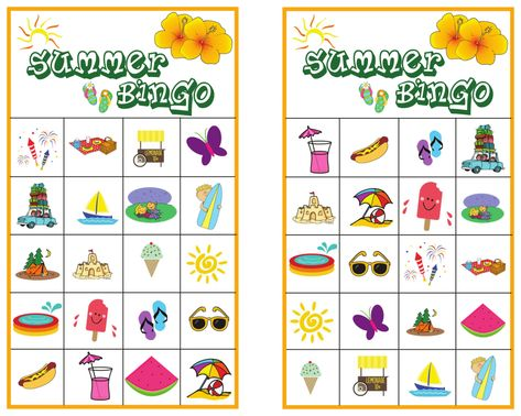 Summer Bingo Game With Free Printables Bingo Free Bingo Cards