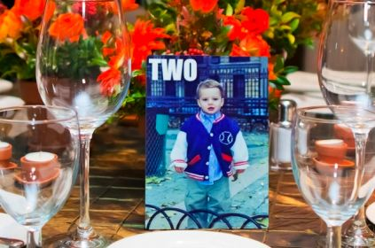 This is one of the best ideas I've seen for table number cards in a long while!