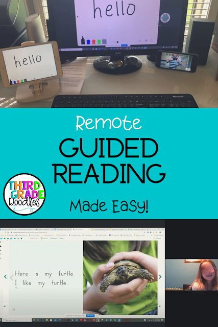 Distance Learning: Remote Guided Reading Lessons Made Easy! Guided Reading Activities, Guided Reading Lessons, Teaching Reading, Reading School, Third Grade Reading, Guided Reading Binder, Guided Reading Organization, Small Group Reading, Reading Groups