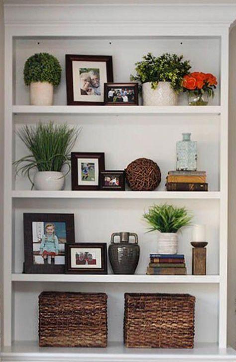 Pin On Wall Shelf Ideas Living room bookshelf decorating ideas