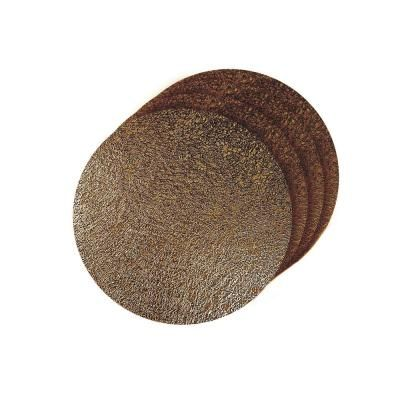 Dainty Home Lacey Bronze Metallic Scribble Design Round Placemats Set Of 4 4lacey15rbr The Home Depot Placemats Design Placemat Sets