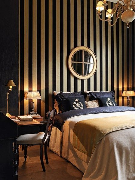 Working In A Bedroom Project Check Out Our Inspirational Tools At Spotools Com Black Gold Bedroom Glamourous Bedroom Bedroom Bed Design Black wallpaper ideas bedroom