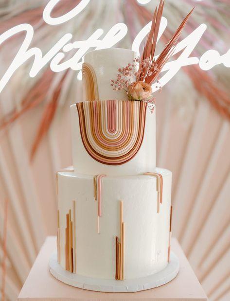 rainbow cake Rainbow Birthday Party, Baby Birthday, Birthday Ideas, Pretty Cakes, Beautiful Cakes, Marzipan, Deco Baby Shower, Boho Cake, Naked Cakes