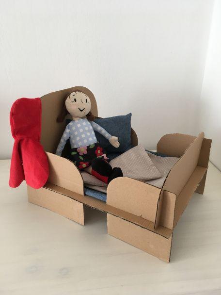 DIY Puppenbett Karton Basteln Mit Pappe Upcycling Aus Alt Mach Neu