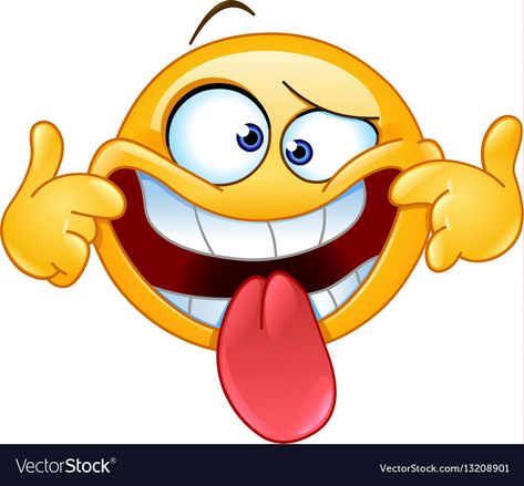 Emoticon Making A Funny Face Download A Free Preview Or High Quality Adobe Illustrator Ai Eps Pdf And H Funny Emoticons Funny Emoji Faces Animated Emoticons