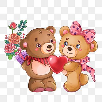 Valentines Day Gift Couple Bear Party Hand Painted Lovely Png Transparent Clipart Image And Psd File For Free Download In 2021 Bear Valentines Teddy Bears Valentines Hug Illustration