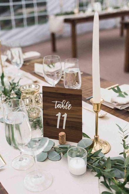 Dark Timber Table Numbers Set Of 25 Diy Print Wedding Table