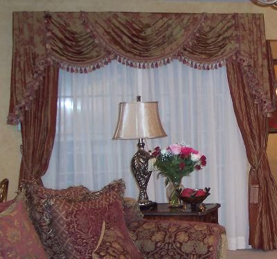 Awesome Jc Penney Draperies | Custom Curtains On Triple Swags Over Drapes Custom  Made Drapes | Ideas For The House | Pinterest | Custom Curtains, House And  Room