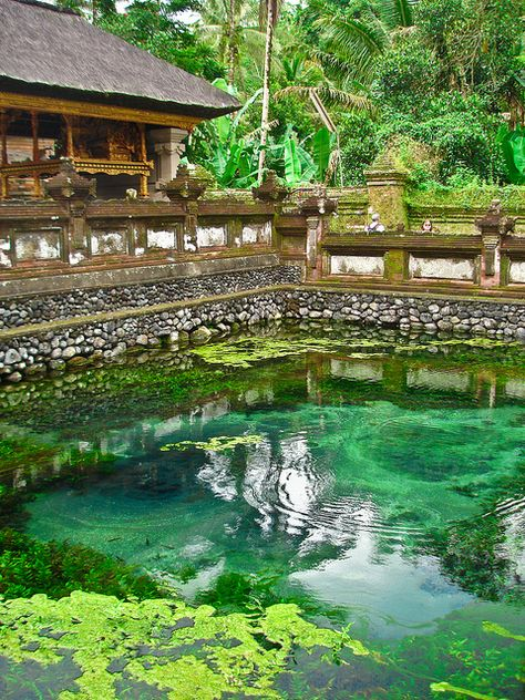 Tampak Siring Temple, holy spring water temple in Bali, Indonesia