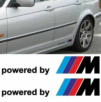 2x Bmw Powered By M M3 M5 M6 325 328 540 Decal Sticker Side Custom Emblem Logo Emblem Logo Decals Stickers Logo Sticker